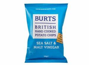 BURTS CRISPS - Sea Salt &  Malt Vinegar150G