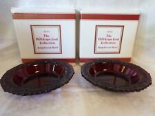 Avon 1876 Cape Cod Collection Ruby Red Soup Cereal Bowls - Set of 2 - New in Box