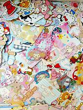 Sanrio Kawaii Sticker Sack Flakes 100 LOT  + BONUS LOOK Hello Kitty My Melody