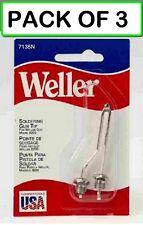 Pack Of 3 Weller Soldering Tip 7135n With Nuts For 8200 Soldering Gun