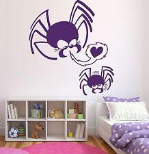 Wall Sticker Vinyl Decal Cute Little Family Spiders Mom Son Love Heart (n225)