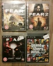 ps3 FEAR x3 Games First Encounter Assault Recon Project Origin... plus GTA 5