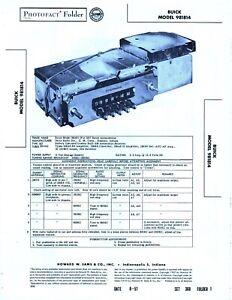 1957 BUICK 981814 CAR AUTORADIO SERVICE MANUAL PHOTOFACT SCHEMATIC DIAGRAM FIX