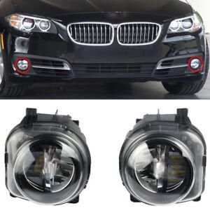 Left + Right Front LED Fog Light Lamp Foglights For BMW 5 Series F10 GT F07 LCI