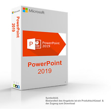 MS Microsoft PowerPoint 2019 1PC Original 64/32-Bit für Windows 10