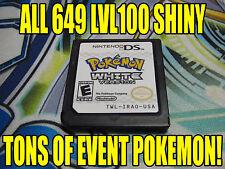 POKEMON WHITE AUTHENTIC All 649 SHINY GAME UNLOCKED EVENT POKEMON!