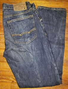 AMERICAN EAGLE OUTFITTERS MADE TO LAST ORIGINAL STRAIGHT MEN'S JEANS 30X30 F35