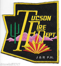 "Tucson  Fire Dept., Arizona  (3.75"" x 3.75"" size)  fire patch"