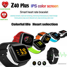 Smartwatch Z40 Plus orologio bluetooth cardio compatibile Android e Ios azzurro