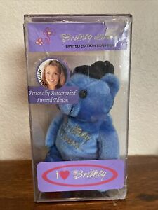 Britney Spears Signed Autographed Beanie Baby Bear In Original Case 198/500