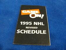 NHL 1994/95 (REVISED) League NHL Hockey Pocket Schedule - Sprint