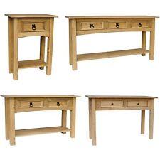 Corona Panama 1 2 3 Console Table With Shelf Solid Pine Wood Hallway Furniture