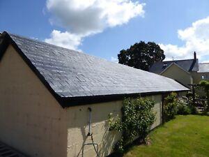 Fibreglass (Grp) Spanish Slate Tiled Effect Roofing Sheets