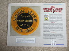 Willabee and Ward Cooperstown Collection Commemorative Patch 1925 Golden Jubilee