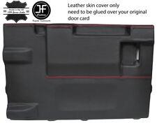 Red Stitch PORTELLONE PORTA CARD LTHR Copertura Per Land Rover Defender 90 03-17 3DR