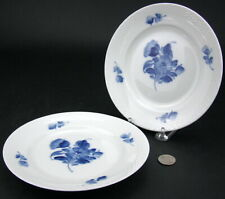"2 Royal Copenhagen BLUE FLOWERS 7 1/2"" Salad Dessert Plates 10 / 8094 Braided"