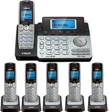 Vtech DS6151 DECT 6.0 2-Line Cordless Phone with 5 DS6101 Telephone Bundle Set