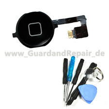 iPhone 4S Homebutton Schwarz, Home Button Flex Flexkabel inkl Werkzeug Set #862+