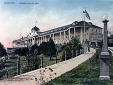 Vintage Grand Hotel Mackinac Island 1890 Color Tinted The Grand Hotel Michigan