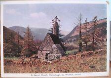 Irish Postcard St Kevin'S Church Kitchen Glendalough Co Wicklow Ireland Penman