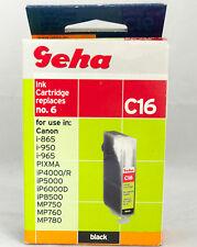 Geha Truckerpatrone C16 für Canon BCI-6BK, Pixma