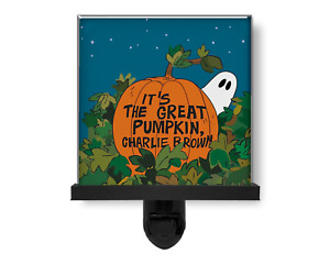 It's the Great Pumpkin Charlie Brown Glass Photo Night Light