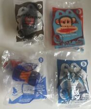 Lot of 4 McDonald's Happy Meal Toys Spy Gear-Nerf-Paul Frank-Max Steel New