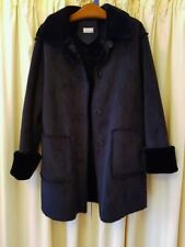 LUXUS KUNST FELL MANTEL JACKE CHIC DAMENMANTEL SHEARLING 42