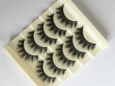 5 paires Naturals maquillage FAUX CILS épais Cils Long Black Handmade