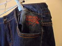 Ed Hardy Christian Audigier tattoo dark denim womens jeans size 18 Love Kills