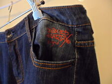 Ed Hardy Christian Audigier tattoo dark denim womens jeans size 18 Love Kills