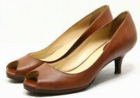 Cole Haan Air Carma Womens Shoes SIZE 9.5 AA narrow leather peep toe pumps Heels