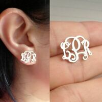 Custom Made Initials Monogram Earring Stainless Steel Personalized Name Jewelry