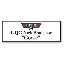 LTJG NICK BRADSHAW GOOSE FROM TOP GUN NAME BADGE HALLOWEEN COSTUME PROP MAGNETIC