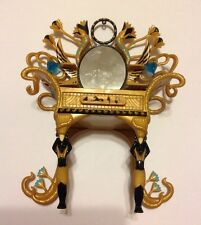Monster High Cleo De Nile Gold Black Turquoise Mirror Vanity Doll Furniture 2011