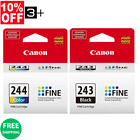 Genuine Canon Ink Cartridges PG-243 & CL-244 Bulk Package MG2522 MG2525 MG3022