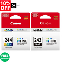 Genuine Canon Ink Cartridges PG-243 & CL-244 Bulk Package MG2522 TS202 TS3122