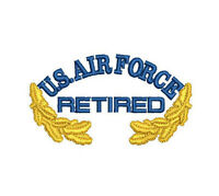 US AIR FORCE Retired with Oak leaves Embroidered Polo Shirt Embroidered gift