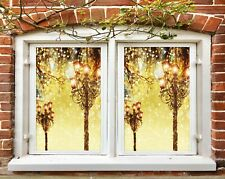 3D Shiny N535 Christmas Window Film Print Sticker Cling Stained Glass Xmas Fay