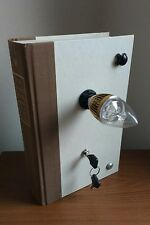 Steampunk Book Table Lamp LED Bulb Key Switch
