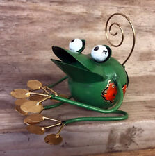 Green Metal Frog Picture / Photo Holder Ornament FROPH1