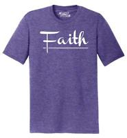 Mens Faith Tri-Blend Tee Religious Christian God Shirt