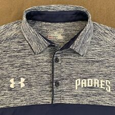 Mens UNDER ARMOUR Navy Blue Heather San Diego Padres Performance Polo Shirt XL