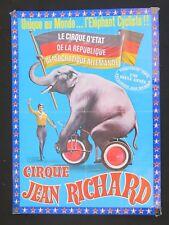 Affiche 1970 CIRQUE JEAN RICHARD éléphant cycliste vélo circus poster Zirkus