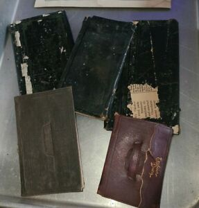 Lot Of 5 Antique 1800s Hand Written Diary  Books 1870-1889 From NY Pulaski?