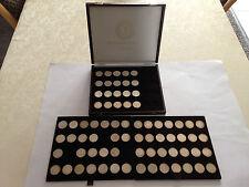 5 DM Silberfünfer J. 387 komplett mit 1958 J, 73 Münzen, ansehen, Schnäppchen !