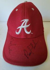 Alabama Crimson Tide signed autographed hat Paul Finebaum