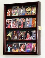 Sport Trading Card Display Case Cabinet Rack Holder 20 Cards - Lockable