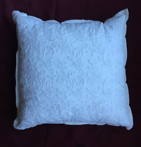"""CHAPS Home EVELYN White PILLOW Size: 16 x 16"""" New SHIP FREE Throw Floral Cotton"""