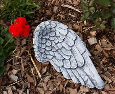 Grave Decorations Angel Wings Frost Resistant Casting Stone approx. 28 cm wide
